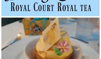 Disney Cruise Royal Court Royal Tea experience