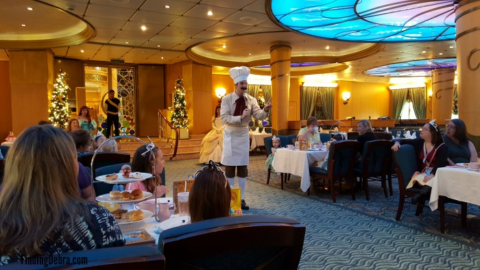 Disney Cruise Royal Court Royal Tea Chef Brule