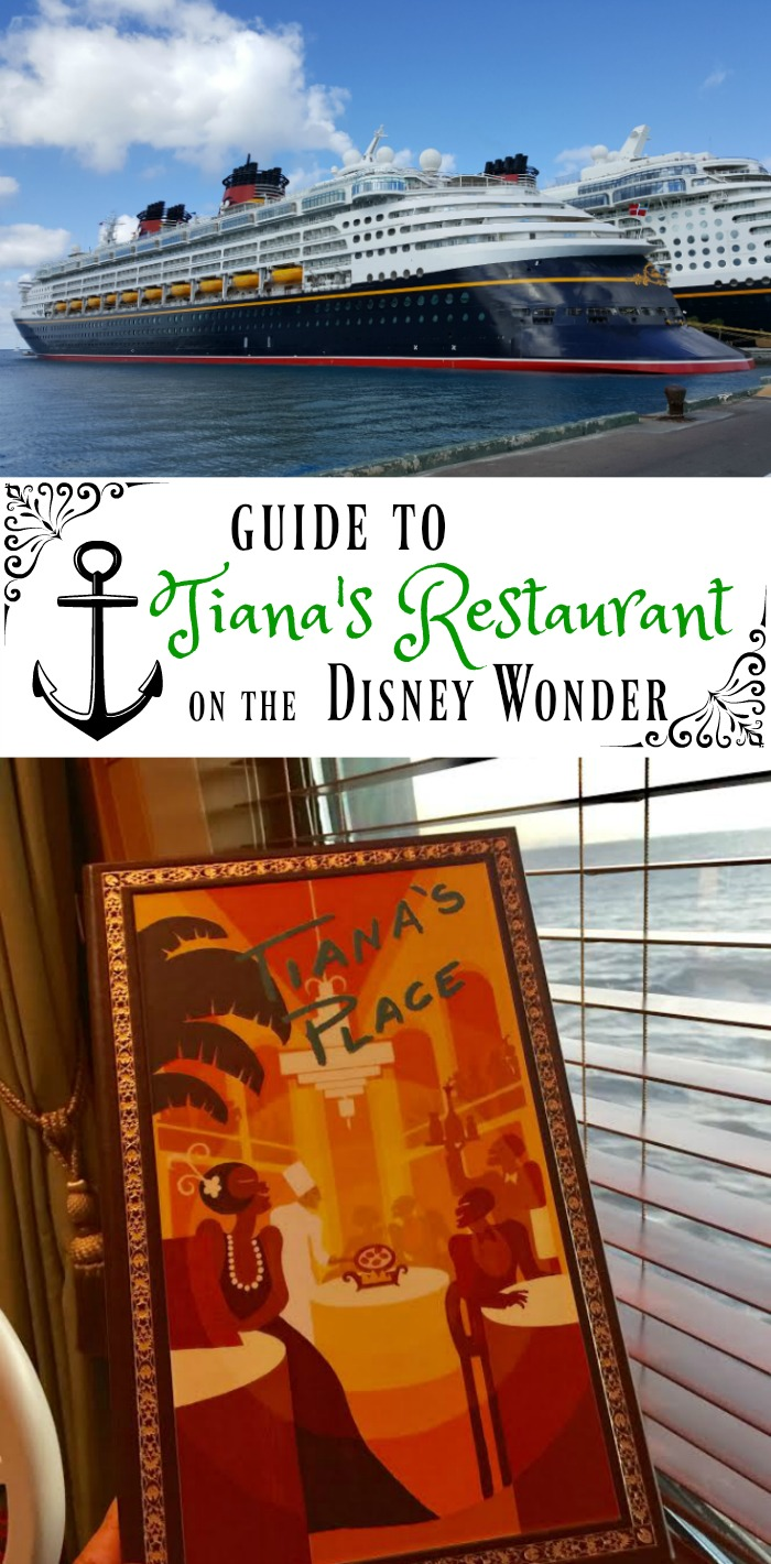 Guide to Tiana's Restaurant on the Disney Wonder