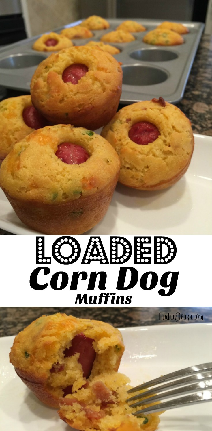 loaded corn dog muffins