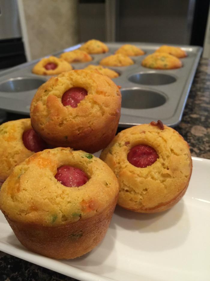 Loaded Corn Dog Muffins