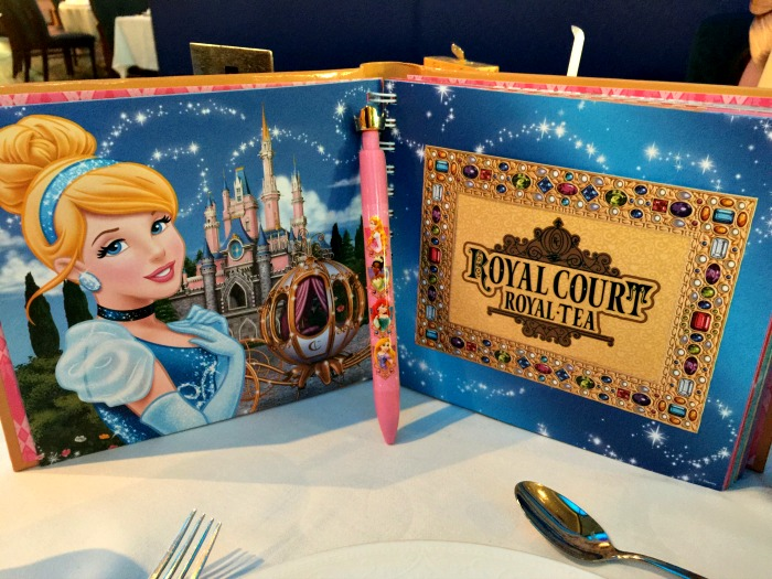 Disney Cruise Royal Court Royal Tea Autograph Book