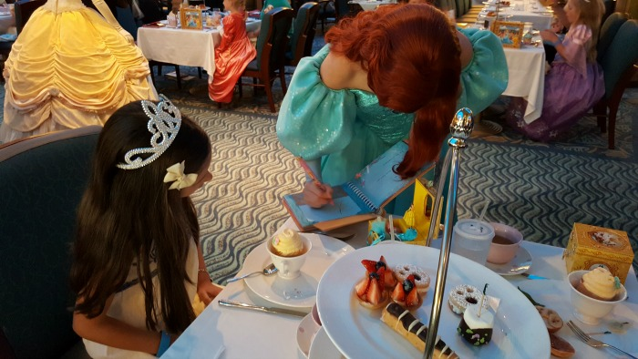 Disney Cruise Royal Court Royal Tea Princesses