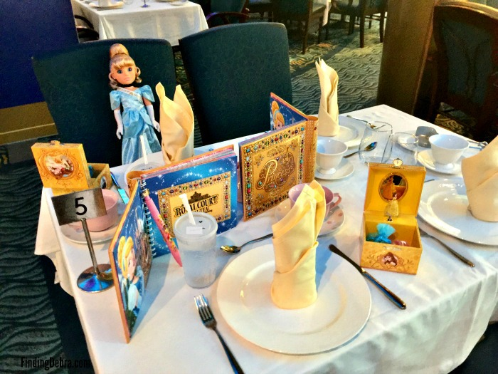 Disney Cruise Royal Court Royal Tea Table Setting