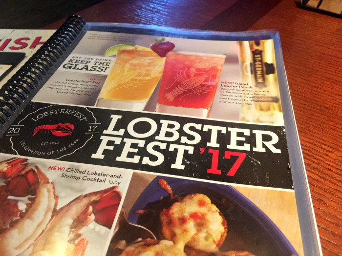 Lobsterfest Menu