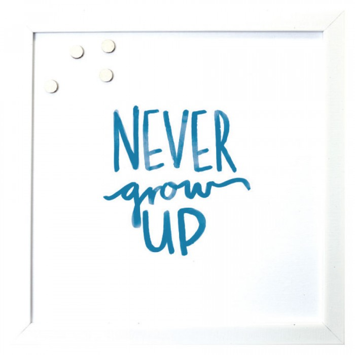 Petal Lane Never Grow Up Magnet Board