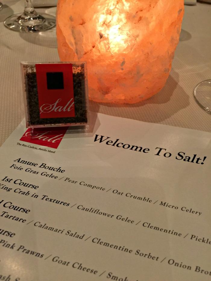 SALT restaurant inside Ritz Carlton Amelia Island