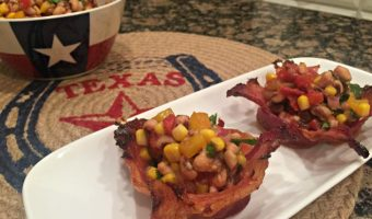 Texas Caviar in Bacon Bowls