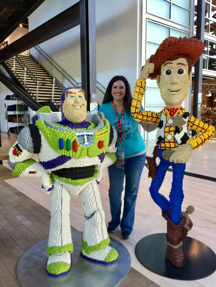 PIXAR Woody and Buzz LEGO statues