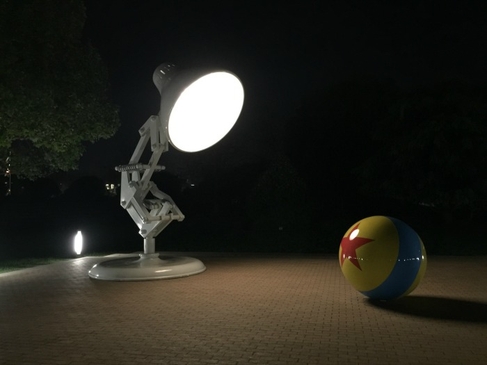 PIXAR campus at night