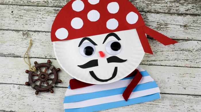Pirate Paper Plate Craft for Kids & Yo Ho Yo Ho - A Pirate Paper Plate Craft - Finding Debra