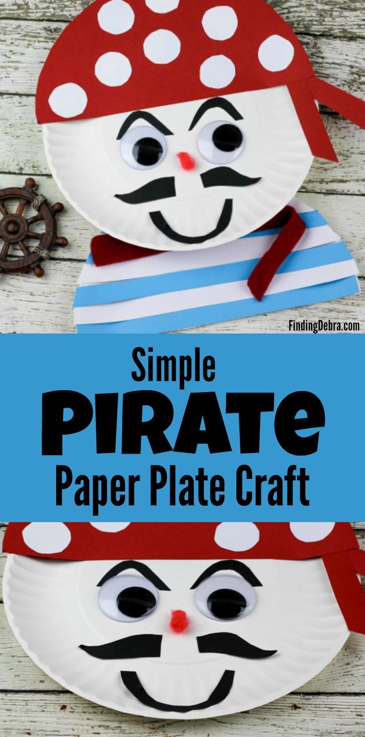 Simple Pirate Paper Plate Craft