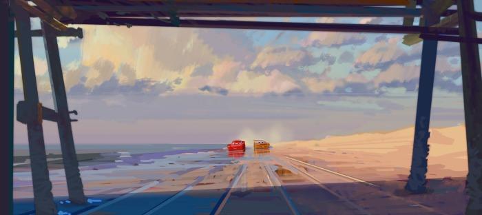 Cars 3 Beach scene
