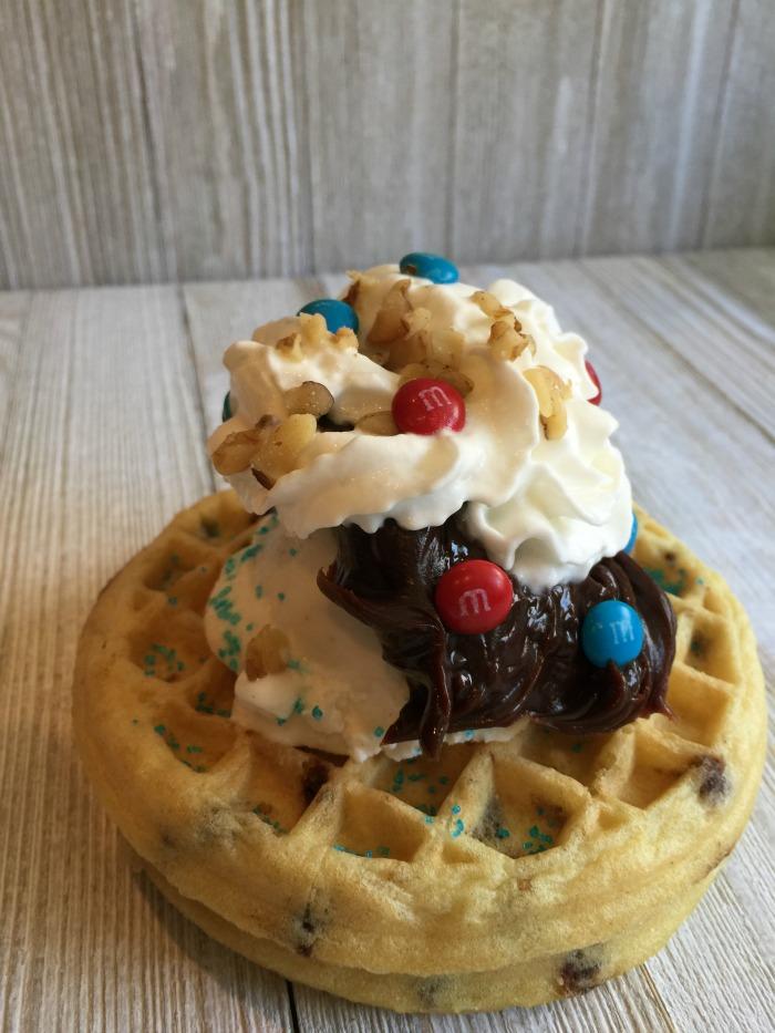 Waffle Hot Fudge Sundae