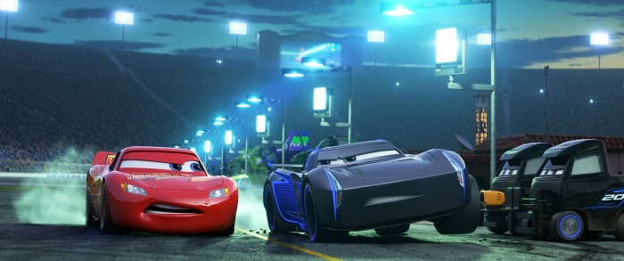 Cars 3 Jackson Storm and Lightning McQueen
