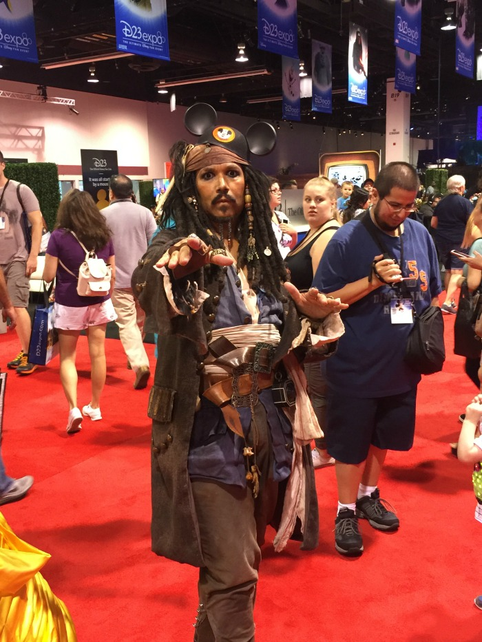 D23 Johnny Depp Cosplay