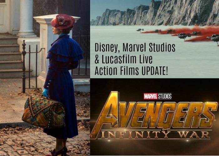Disney, Marvel Studios & Lucasfilm Live Action Films UPDATE!
