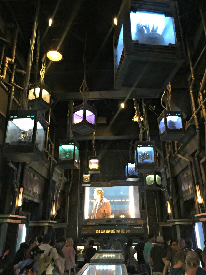 Guardians of the Galaxy Mission Breakout inside ride