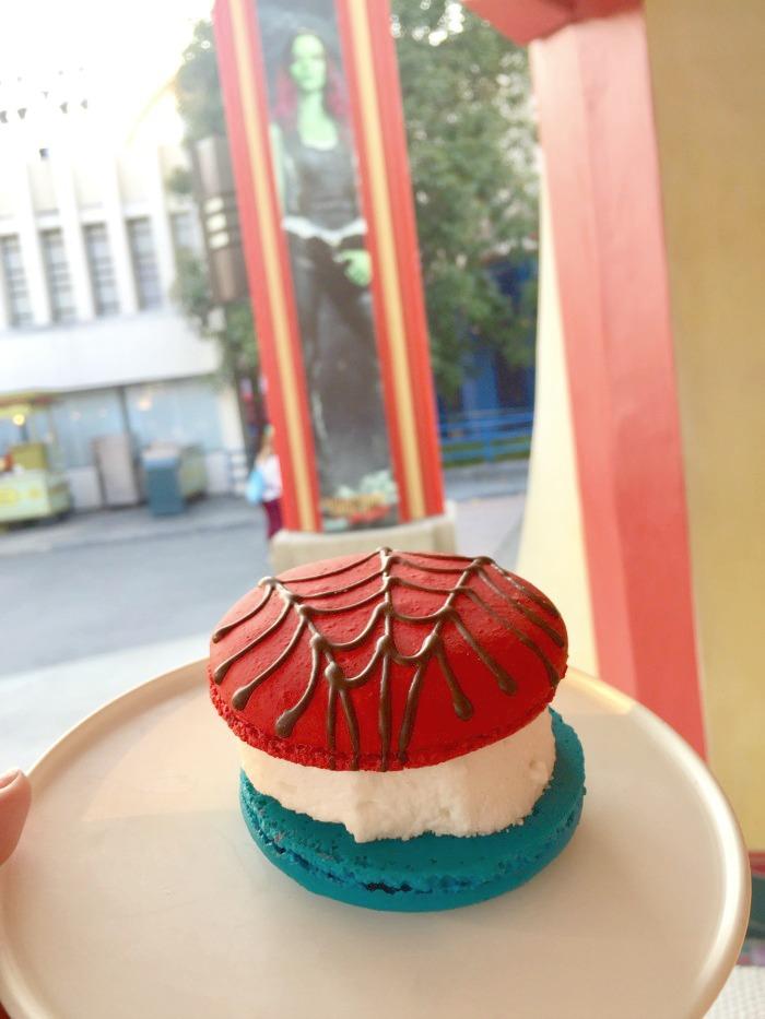 Summer of Heroes Spiderman Macaron Ice Cream Sandwich