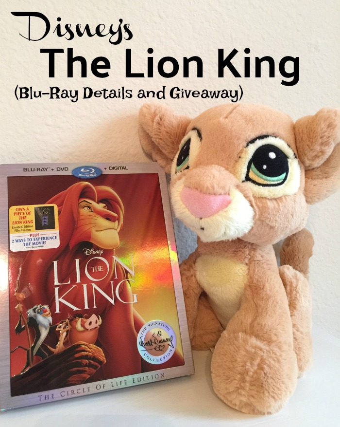 The Lion King Blu-Ray Details and Giveaway