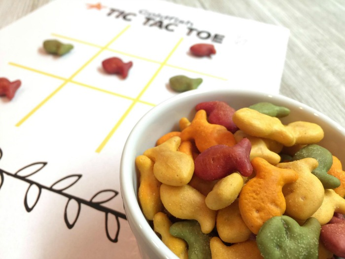 Goldfish Tic Tac Toe Printable Fun