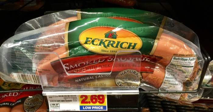 Eckrich Original Natural Casing Smoked Sausage 14oz