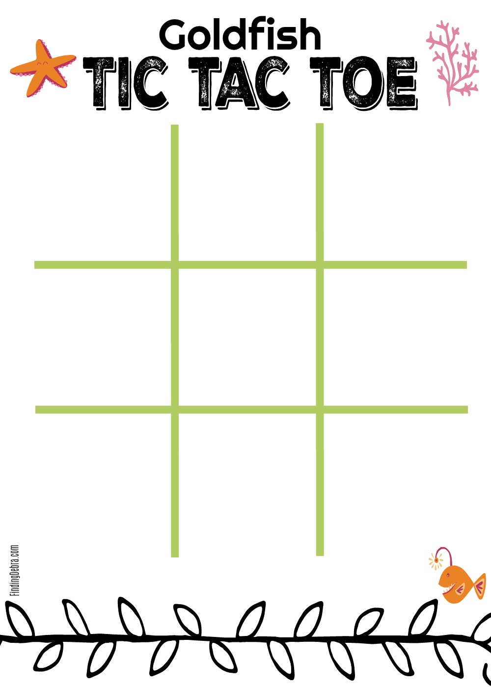image relating to Tic Tac Toe Printable called Tic Tac Toe Printable for Goldfish Crackers Exciting - Discovering Debra