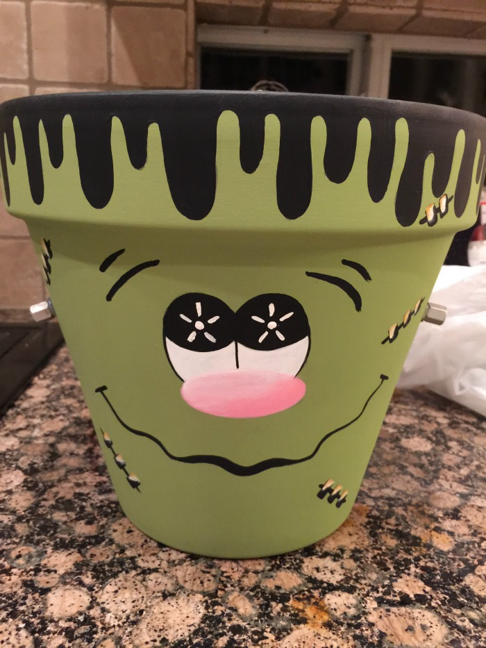 Halloween DIY Frankenstein Clay Pot Craft