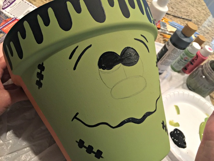 Halloween DIY Frankenstein Clay Pot Step 3