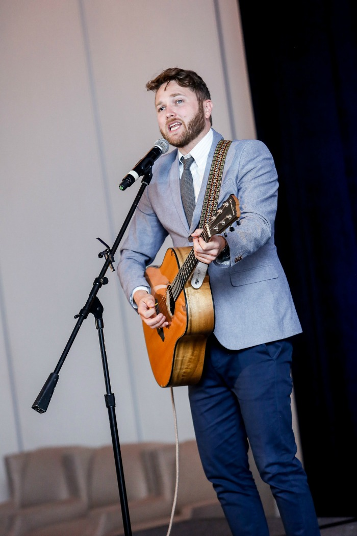 Musician Luke Wade performs - Hyundai Hope on Wheels dinner Dallas