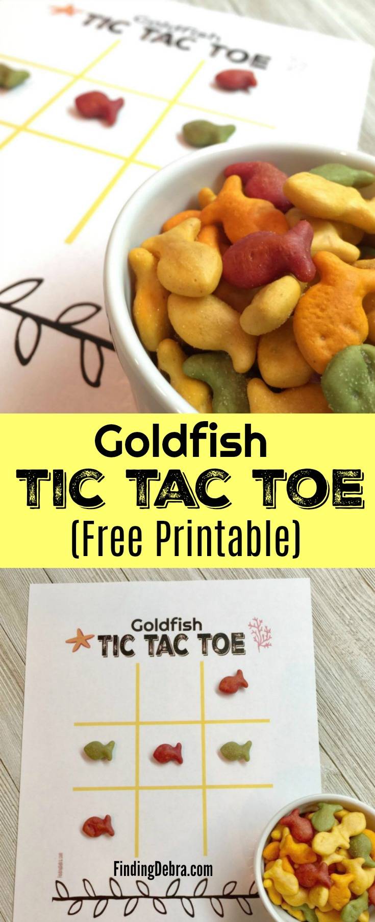 Goldfish Tic Tac Toe Free Printable for Kids Fun on the go, in the house, or while traveling! #ad #PlantYourVote