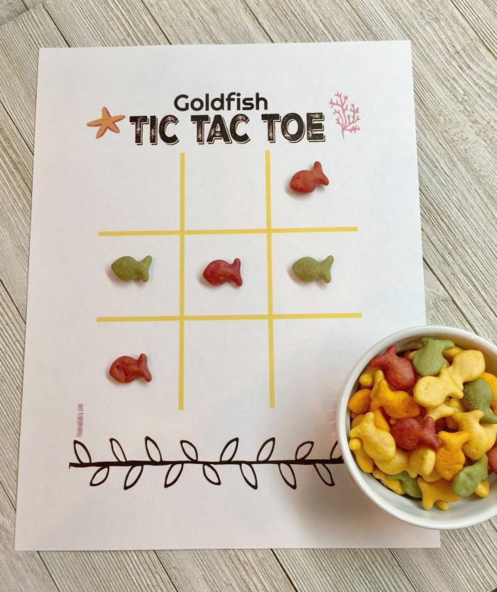 Tic Tac Toe Printable Goldfish