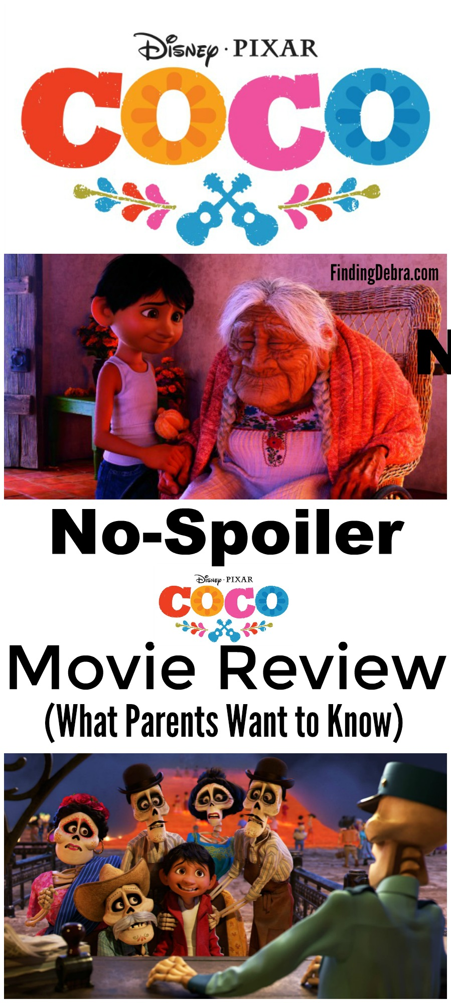Disney*Pixar Coco Movie Review -  no spoilers, but answers what parents want to know. #DisneyPartner #PixarCoco #PixarCocoEvent #Disney #Pixar