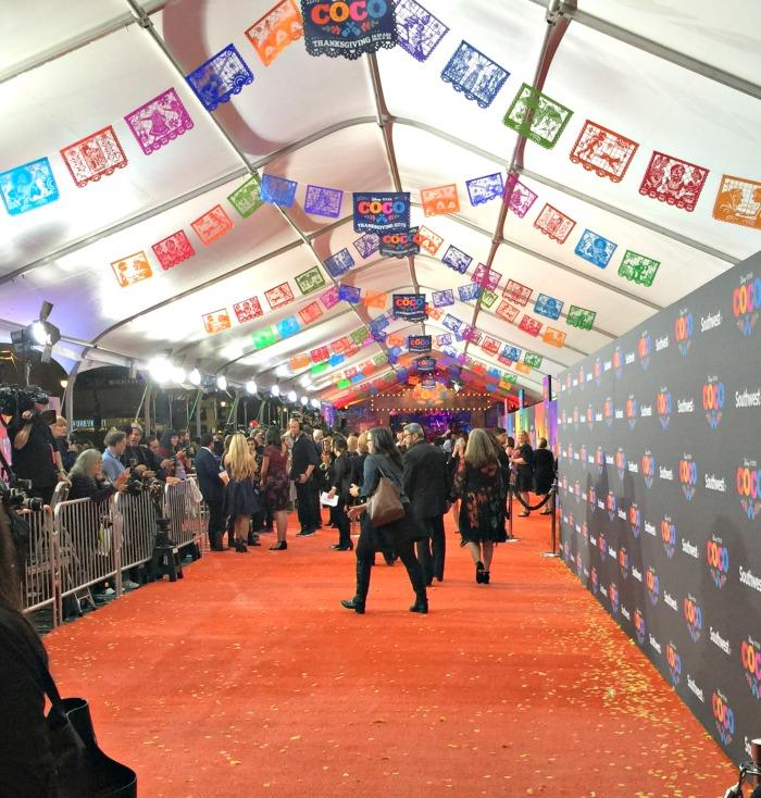 Coco premiere orange carpet of marigolds