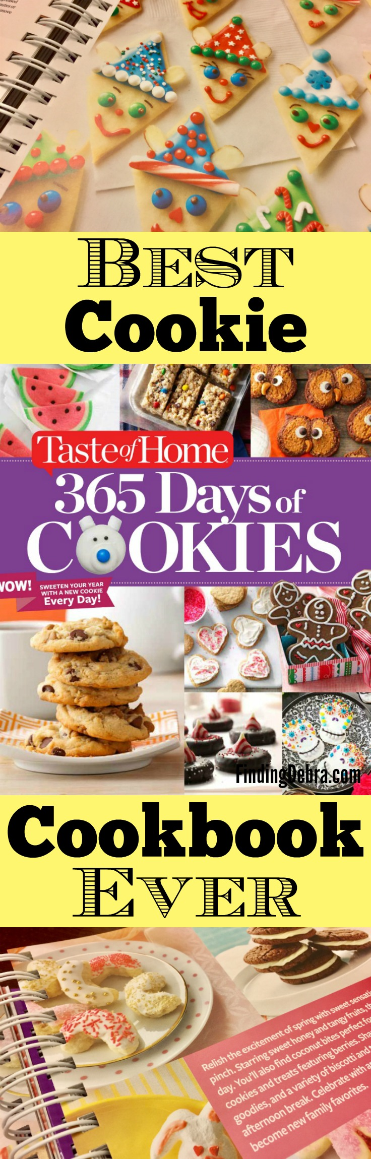 Best Cookie Cookbook Ever - Taste of Home - 365 Days of Cookies. I'm giving a copy away on the blog too!