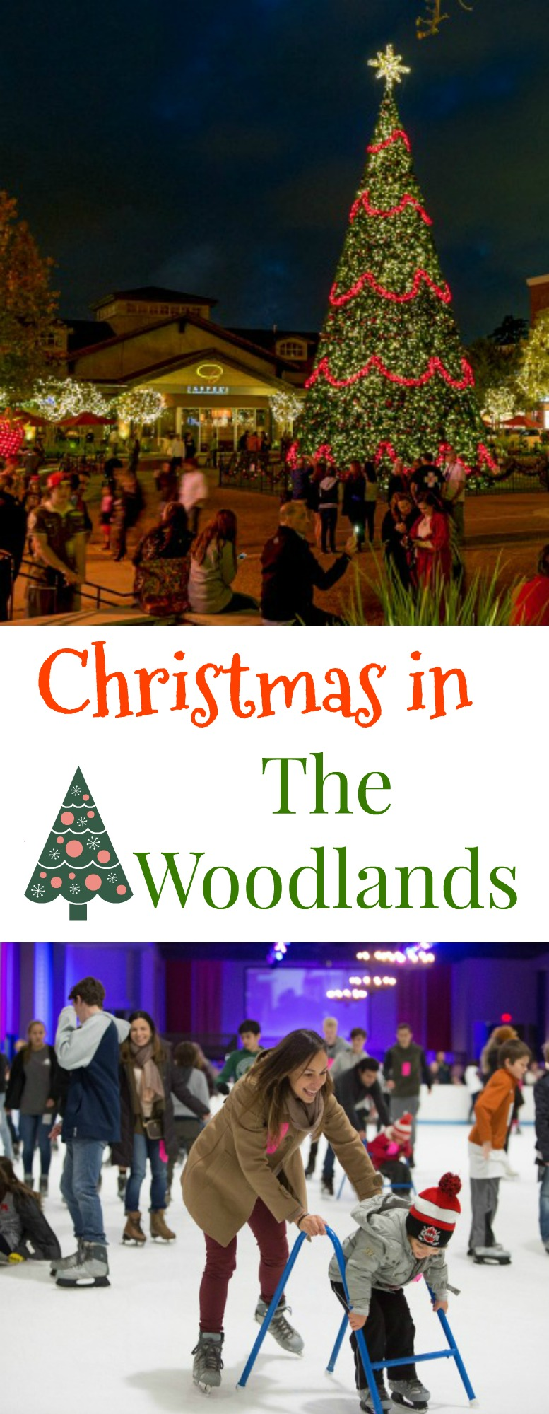 Christmas in The Woodlands pin