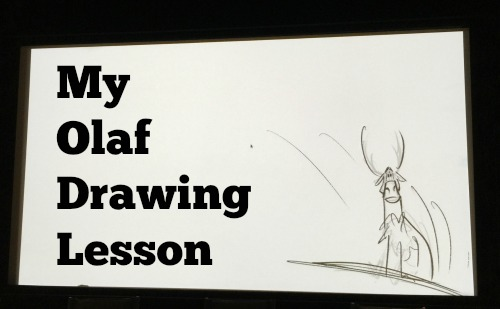 Olaf drawing lesson