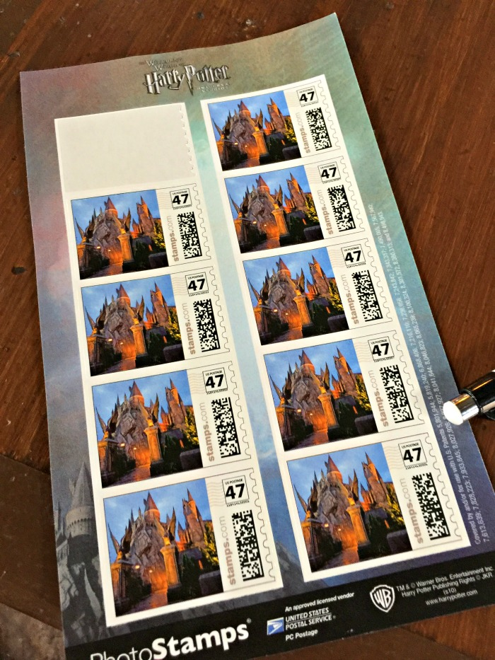 Stamps at Owl Post - Hogsmeade