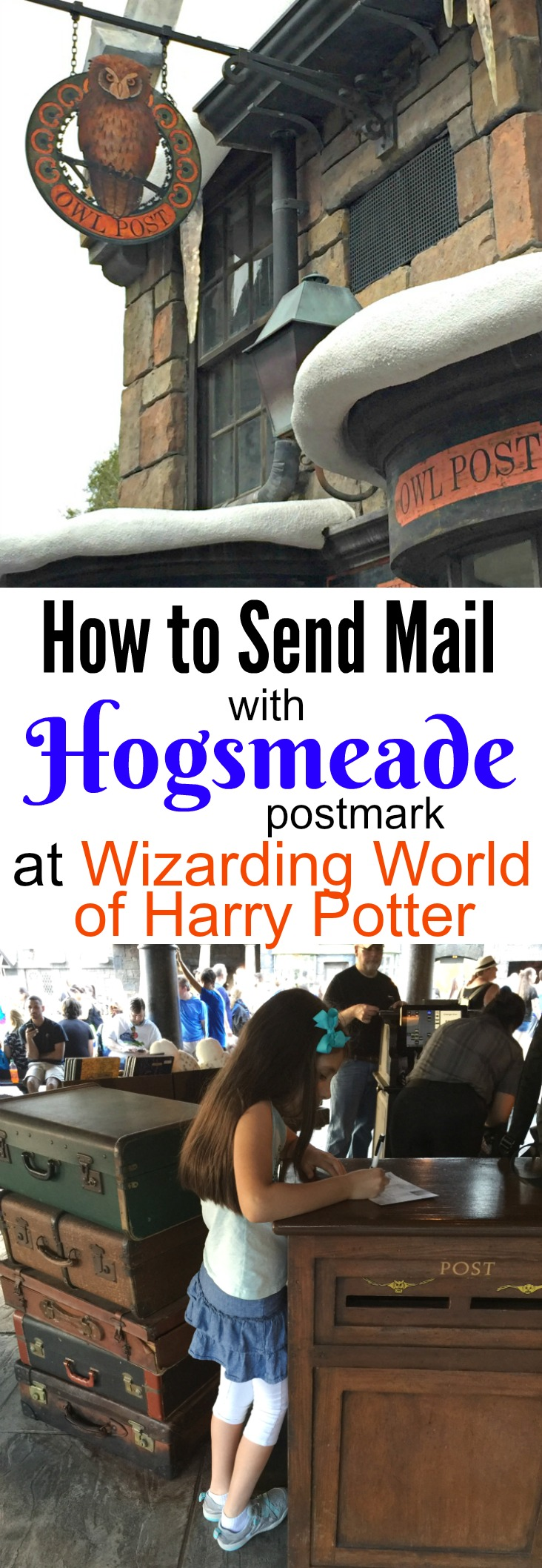 How to send mail with Hogsmeade postmark at Wizarding World of Harry Potter