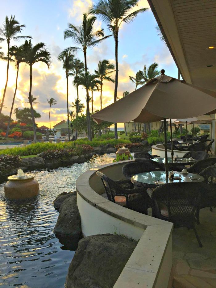 Aqua Kauai Beach Resort View from Breakfast