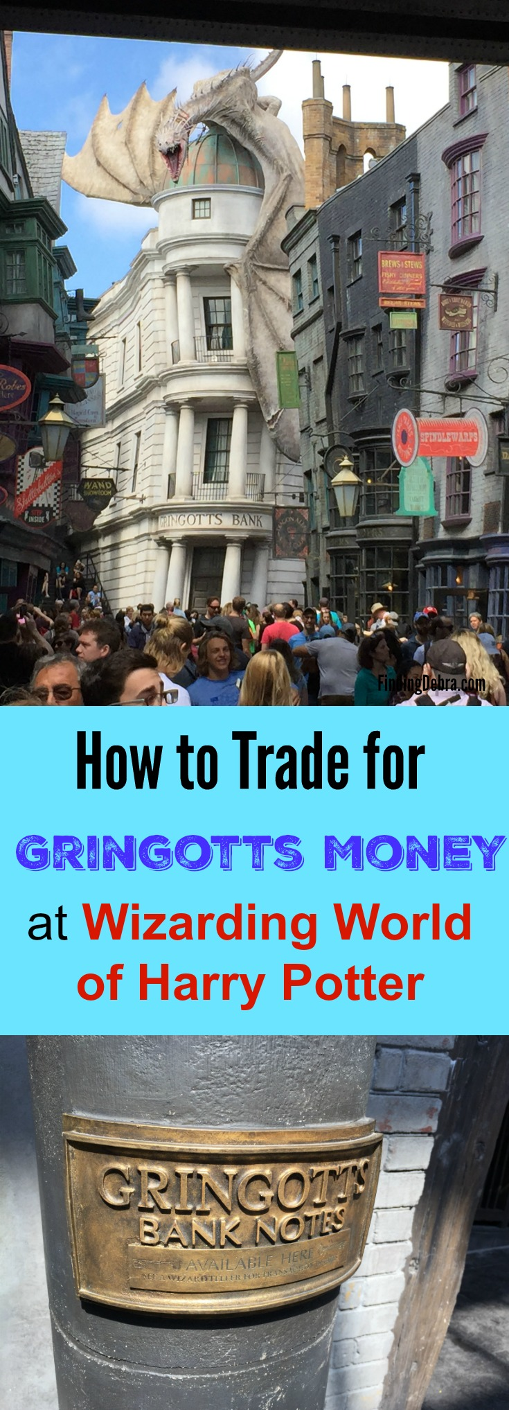 How to Trade money for Gringotts Money at Wizarding World of Harry Potter - Universal Studios Orlando