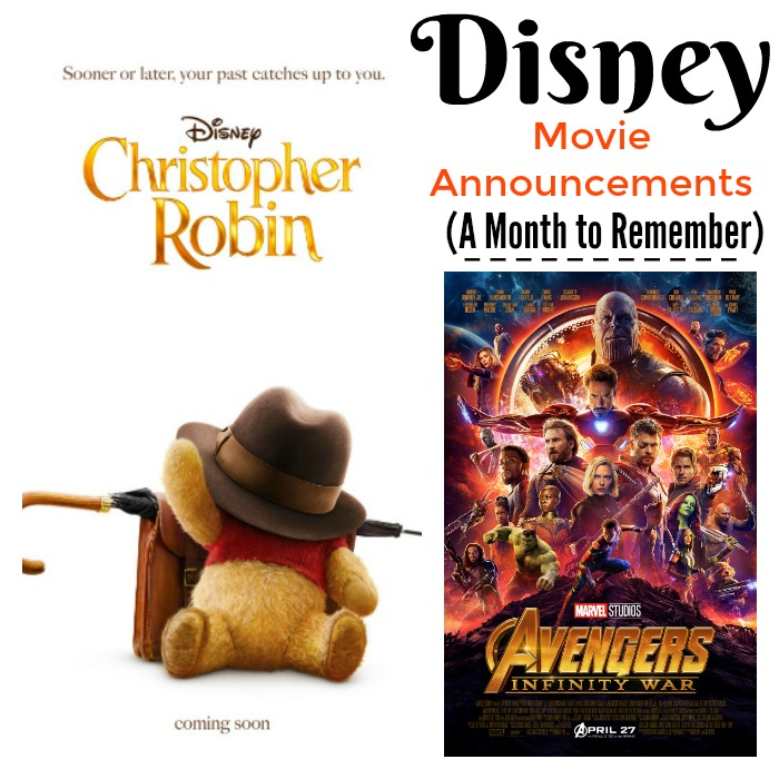 Disney Movie Announcements - A Month to Remember