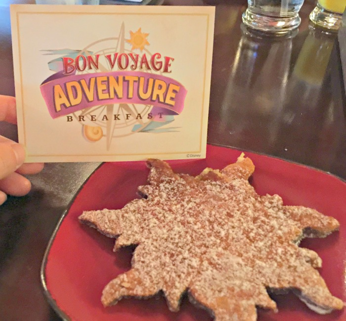 Disney Bon Voyage Adventure Breakfast Tangled Sun Pastry