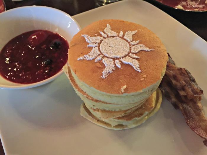 Disney Bon Voyage Adventure Breakfast Tower of Pancakes