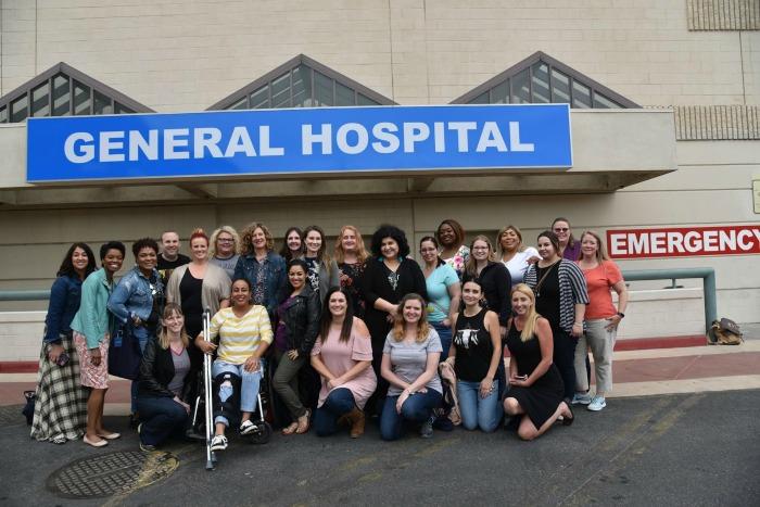 General Hospital set visit - outside