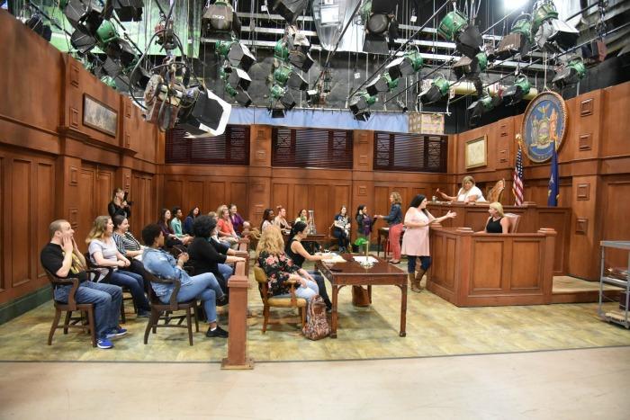 General Hospital Set Visit - courtroom set