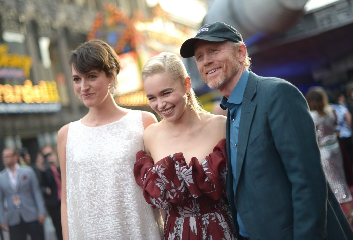 Emilia Clarke and Ron Howard