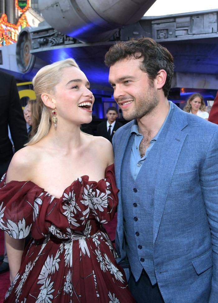Solo Premiere Emilia Clarke and Alden Ehrenreich