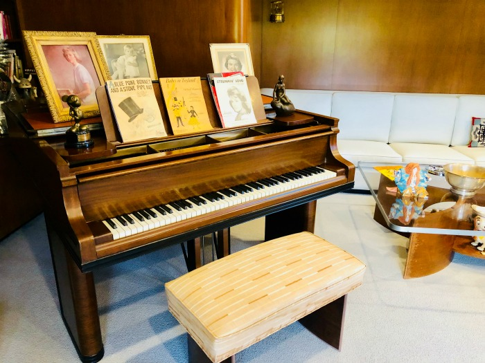 Tour Walt Disney's Office - formal office piano