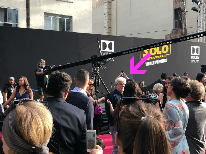 George Lucas at Solo Premiere